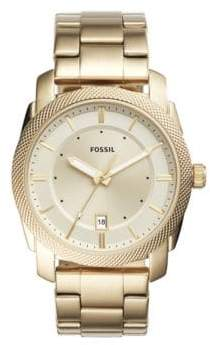 Fossil Yellow Goldtone Stainless Steal Bracelet Watch