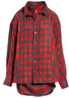 Y/Project Double Layered Flannel Shirt