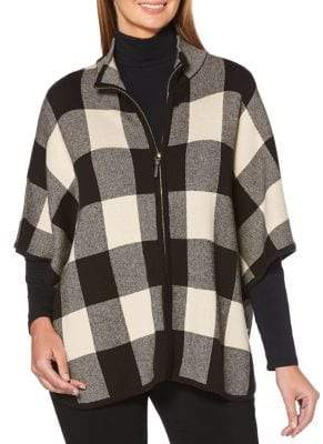 Rafaella Checked Mockneck Sweater
