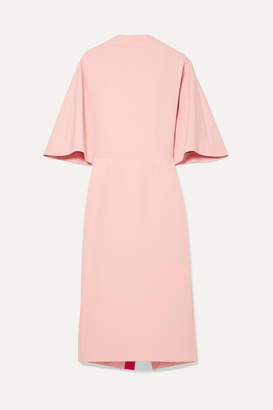 Roksanda Bow-embellished Two-tone Silk Crepe De Chine Dress - Baby pink