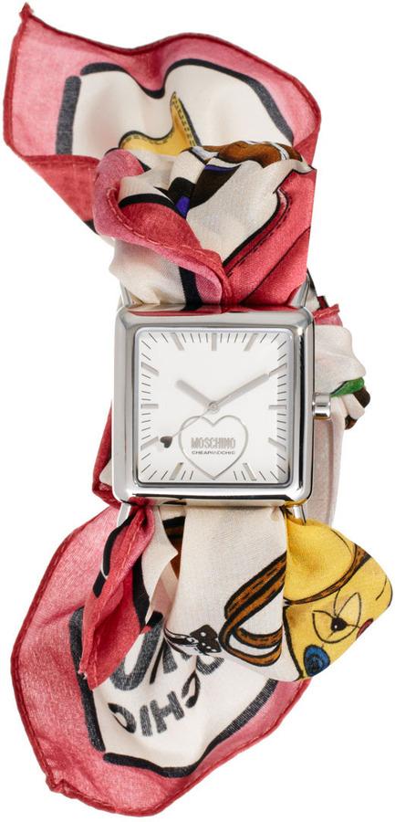 Moschino Cheap & Chic Fashion Victim Scarf Watch
