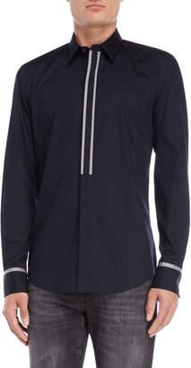 Antony Morato Navy Contrast Trim Sport Shirt