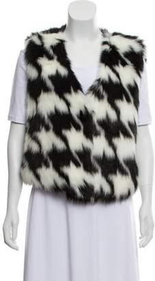 MICHAEL Michael Kors Faux Fur Open Front Vest w/ Tags