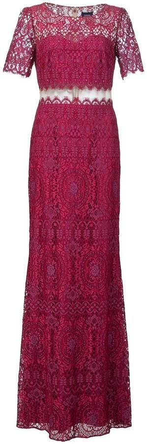 Marchesa lace floor length gown