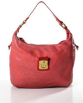 Marc By Marc Jacobs Marc By Marc Jacobs Coral Pink Leather Single Handle Large Shoulder Handbag