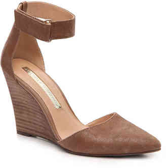 Women's Esther Wedge Pump -Brown Suede $75 thestylecure.com