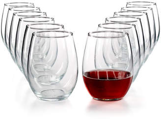 Martha Stewart Collection Essentials 12-Pc. Stemless Wine Glasses Set, Created for Macy's