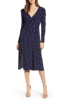 Madison & Berkeley Deep-V Midi Dress