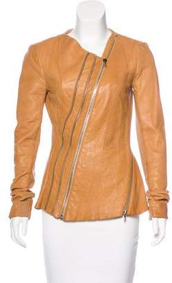 Willow Zip-Up Leather Jacket