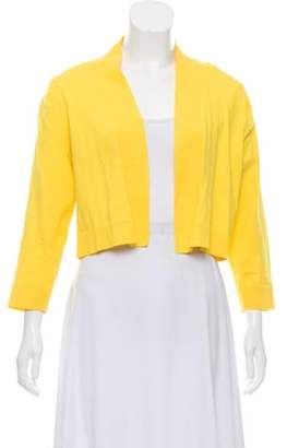 Calvin Klein Collection Cropped Open Front Cardigan Yellow Cropped Open Front Cardigan