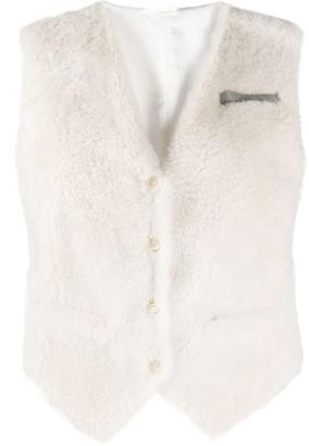 Brunello Cucinelli textured tailored waistcoat