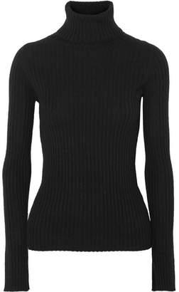 Nili Lotan Sesia Ribbed Cashmere Turtleneck Sweater - Black