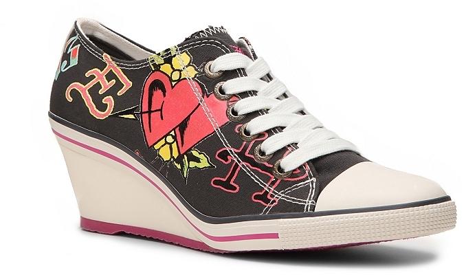 Ed Hardy Bret Wedge Sneaker