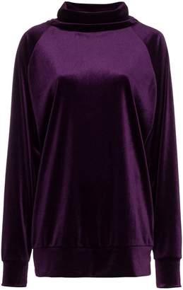 Marta Jakubowski turtle neck velvet sweatshirt