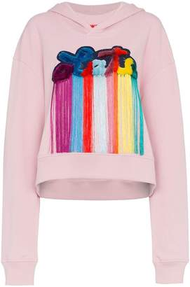 Mira Mikati late slogan hooded sweatshirt