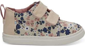 Birch Retro Floral Tiny TOMS Lenny Mid Sneakers