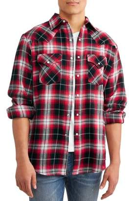 Plains Men's Long Sleeve Flannel Western Shirt