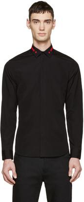 Givenchy Black Poplin Star Collar Shirt $440 thestylecure.com
