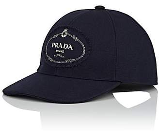 2a3f33e54d332a Prada Men's Cotton Canvas Baseball Cap - Navy