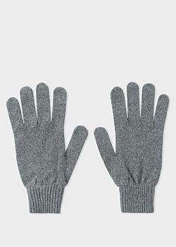 Paul Smith Men's Grey Cashmere And Merino Wool Gloves