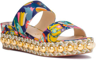 Christian Louboutin Janitag 60 Satin Multicolor Sandals