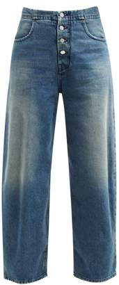 MM6 MAISON MARGIELA Distressed High Rise Jeans - Womens - Denim