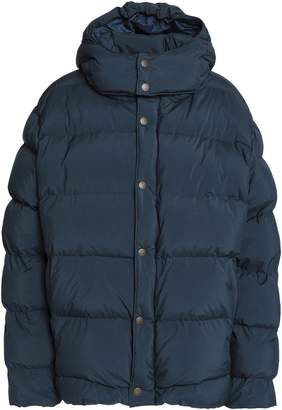84d7c89b0 Womens Navy Quilted Jacket With Hood - ShopStyle UK