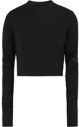 9e349b5445 Alo Yoga Cropped Cutout Stretch-jersey Top - Black