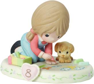 """Precious Moments 154035B Birthday Gifts, """"Growing In Grace, Age 8"""", Bisque Porcelain Figurine, Girl"""