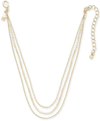 """INC International Concepts I.N.C. Gold-Tone Triple-Layer Choker Necklace, 12"""" + 3"""" extender, Created for Macy's"""