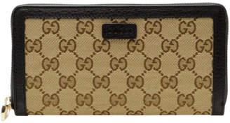 Gucci Zip Around Wallet GG Supreme Beige/Ebony