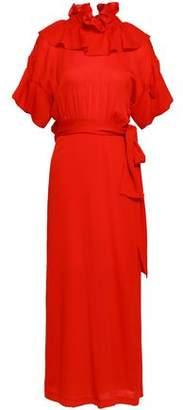 Victoria Beckham Ruffled Silk-jersey Maxi Dress