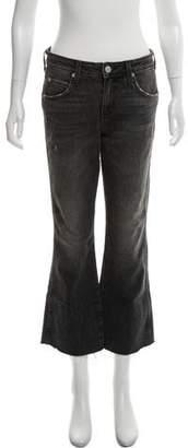 Amo Kick Crop Mid-Rise Jeans w/ Tags