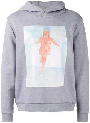 Christopher Kane body print unisex hoodie