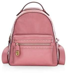 Coach Rivet Trim Campus Leather Backpack