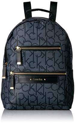 Calvin Klein Nylon Multi Zip Face Backpack
