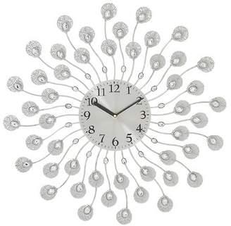 House of Hampton Oversized 19 Round Acrylic Metal Wall Clock