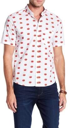 PUBLIC ART Short Sleeve Pucker Up Print Shirt