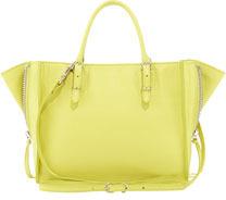 Balenciaga Papier A4 Mini Magnet Tote Bag, Yellow