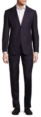Armani Collezioni Burgundy Wool Suit