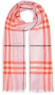 Burberry Giant Check Wool& Silk Scarf