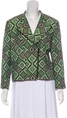 Akris Punto Patterned Zip-Up Jacket