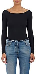 ATM Anthony Thomas Melillo Women's Rib-Knit Long-Sleeve Bodysuit - Black
