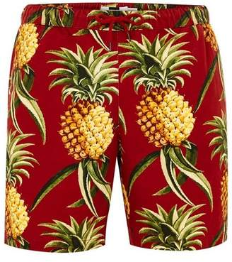 Topman Mens Red Pineapple Pull On Shorts