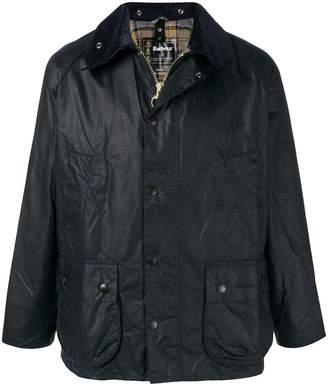 Barbour contrast collar coat