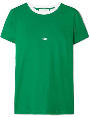 Helmut Lang Tokyo Taxi Printed Cotton-jersey T-shirt - Green