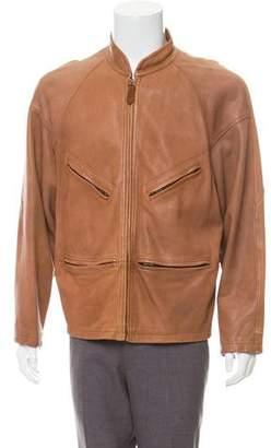 Giorgio Armani Deer Skin Zip-Front jacket