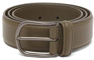 Andersons Anderson's - Pebbled Leather Belt - Mens - Dark Green
