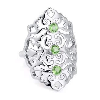 Neola - Jade Sterling Silver Cocktail Ring Green Peridot