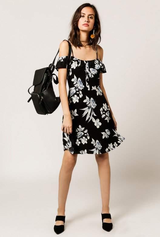 Off Shoulder Mix Floral Dress